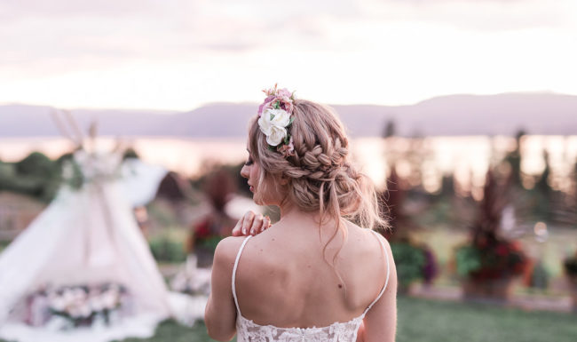 Natural Makeup bridal crown braid, up do's, okanagan weddings, bohemian styled photoshoot kelowna B.C. Hair stylist kelowna.