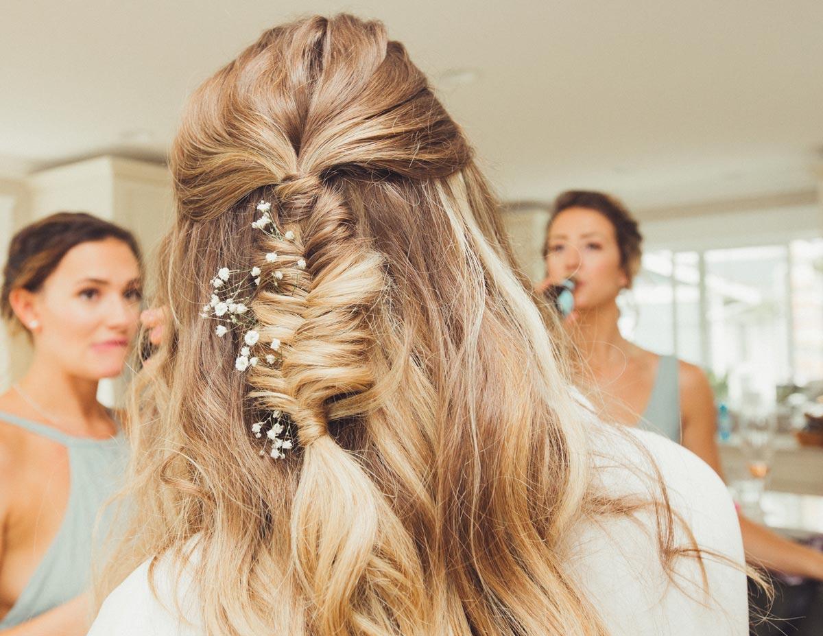 Chloe and Robbie Wedding - Bridal Bohemian Braid