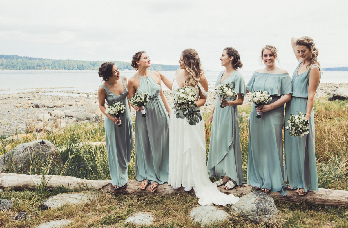 Chloe and Robbie Wedding - Makeup and Hair - Bridal Party ocean side