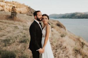 Bride and Groom in the Okanagan makeup by Kathryn Ramsay Esthetics